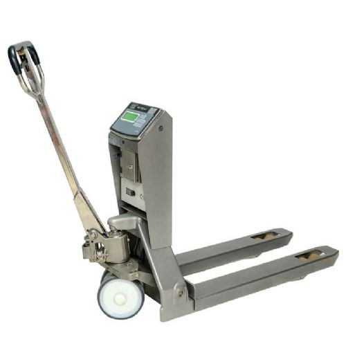 Stainless Steel Weighing Pallet Trucks <br />Capacity: 2200kg
